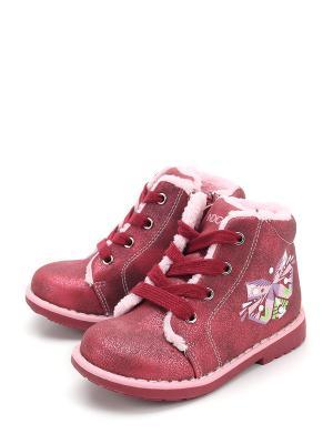 Ботинки Indigo. Цвет: бордовый