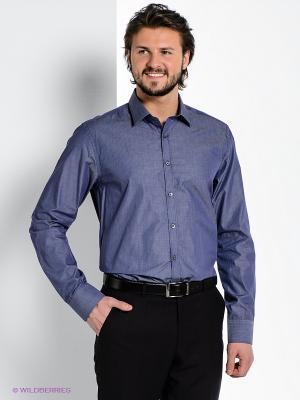 Рубашка MONDIGO. Цвет: серо-голубой, терракотовый