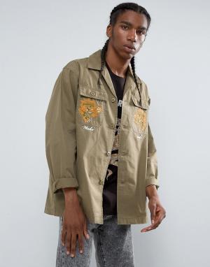 Maharishi Куртка-рубашка Tour DAfrique. Цвет: зеленый