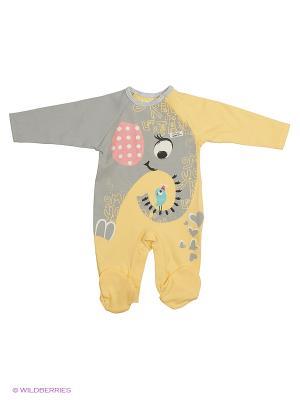 Комбинезон для малышей WO&GO. Цвет: желтый, серый