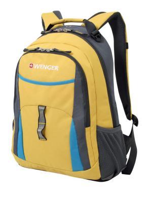 Рюкзак WENGER. Цвет: серый, голубой, желтый