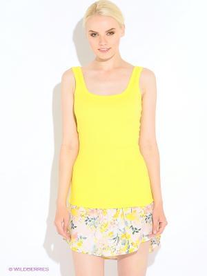 Майка Oodji. Цвет: светло-желтый