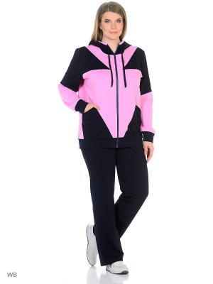 Спортивный костюм FORLIFE. Цвет: синий, розовый