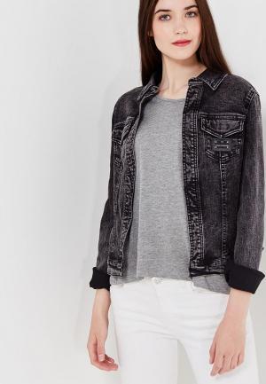 Куртка джинсовая oodji. Цвет: черный