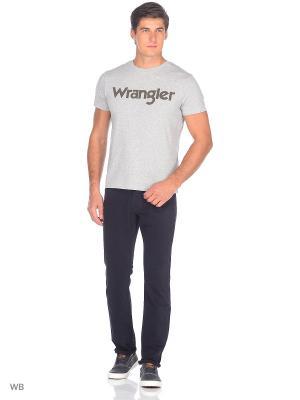 Футболка SS LOGO Wrangler. Цвет: серый