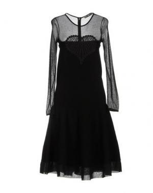 Платье до колена PICCIONE•PICCIONE. Цвет: черный