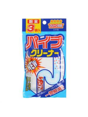 Средство для чистки труб NAGARA 20 гр *3 пакетика. Цвет: белый, голубой