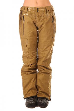 Штаны сноубордические женские  Village Pant Antique Bronze Oakley. Цвет: коричневый