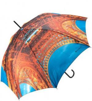 Зонт-трость с куполом из полиэстера FLIORAJ. Цвет: оранжевый