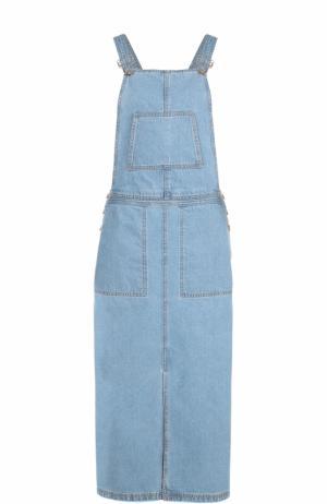 Джинсовый сарафан с запахом Steve J & Yoni P. Цвет: голубой