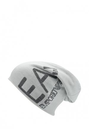 Шапка EA7. Цвет: белый