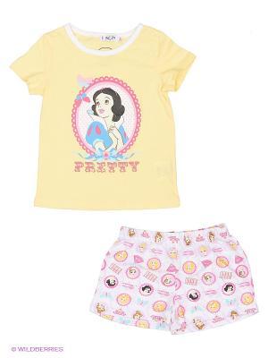 Пижама INCITY. Цвет: желтый, белый