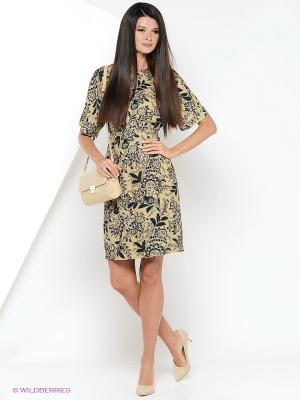 Платье AKIMBO. Цвет: бежевый, черный