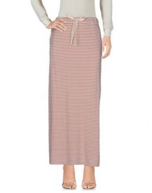 Длинная юбка ZHELDA. Цвет: пастельно-розовый