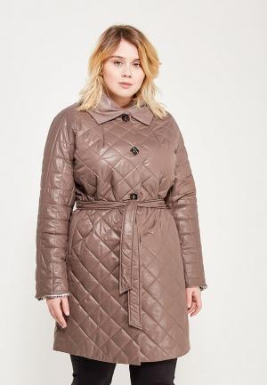 Куртка утепленная Grafinia. Цвет: коричневый