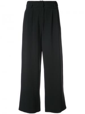 Укороченные широкие брюки Magda Butrym. Цвет: чёрный