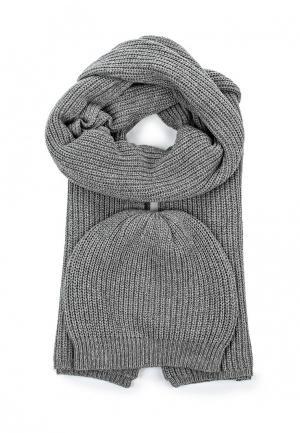 Комплект шапка и шарф Rodier. Цвет: серый