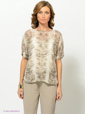 Блузка Vila. Цвет: светло-серый, антрацитовый