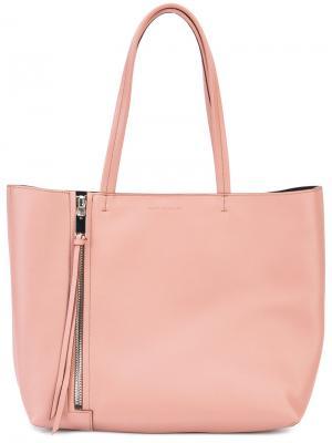Классическая сумка-шоппер Elena Ghisellini. Цвет: розовый и фиолетовый