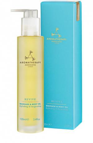Тонизирующее масло для тела Revive Massage & Body Oil Aromatherapy Associates. Цвет: бесцветный
