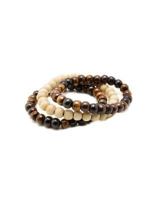 Набор браслетов из кости Indira. Цвет: прозрачный
