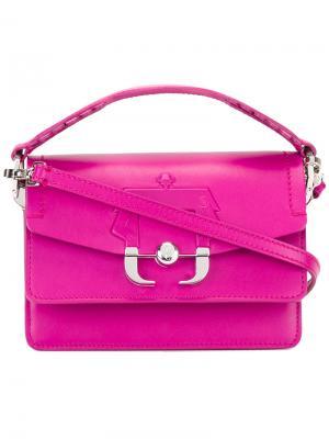 Сумка на плечо Twi Paula Cademartori. Цвет: розовый и фиолетовый