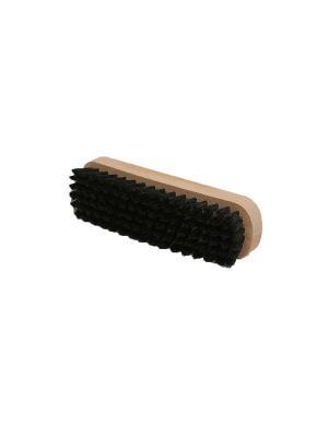 Щетка для гладкой кожи, натуральный темный ворс, 15.5 см. SALRUS. Цвет: бежевый