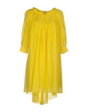 Короткое платье ROBERTA SCARPA. Цвет: желтый
