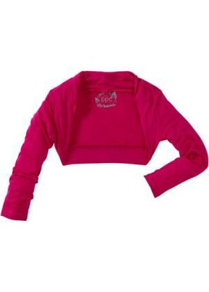 Жакет болеро (горячий ярко-розовый) bonprix. Цвет: горячий ярко-розовый