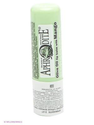 Защитный бальзам для губ с ароматом манго Aphrodite. Цвет: белый