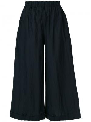 Широкие укороченные брюки Daniela Gregis. Цвет: синий