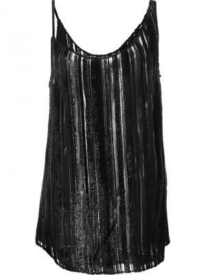 Asymmetrical stripe detail camisole Jonathan Cohen. Цвет: чёрный