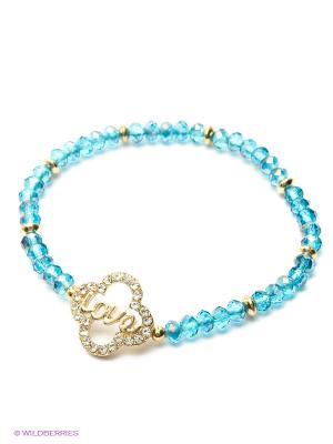 Браслет Taya. Цвет: золотистый, синий