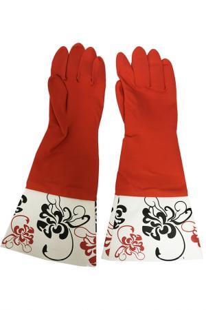 Перчатки кухонные MAGIC HOME. Цвет: красный, белый