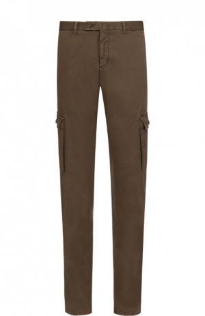 Хлопковые брюки карго Z Zegna. Цвет: хаки