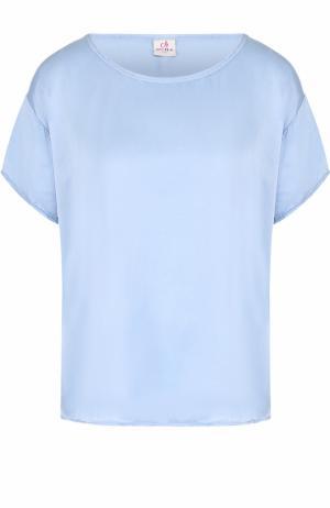 Футболка свободного кроя с круглым вырезом Deha. Цвет: голубой