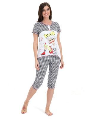 Пижама Tenerezza. Цвет: серый, белый
