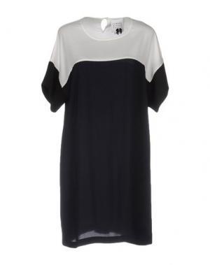 Короткое платье EDWARD ACHOUR. Цвет: темно-синий