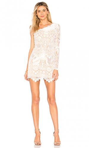 Мини-платье на одно плечо anette X by NBD. Цвет: белый