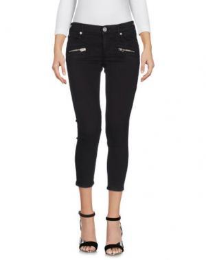 Джинсовые брюки-капри TRUE RELIGION. Цвет: черный
