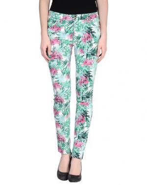 Повседневные брюки REIKO. Цвет: зеленый
