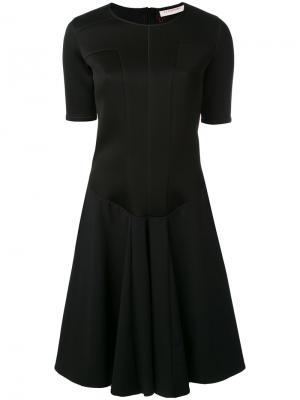 Расклешенное платье A.F.Vandevorst. Цвет: чёрный