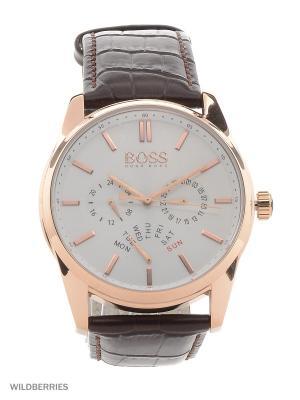 Часы HUGO BOSS. Цвет: коричневый