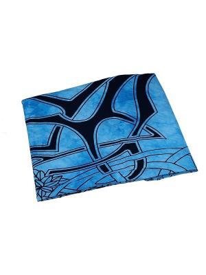 Покрывало декоративное набивное ETHNIC CHIC. Цвет: черный, голубой