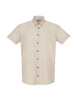 Рубашка Pre End. Цвет: бежевый