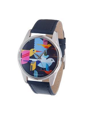 Часы Mitya Veselkov Стая птиц. Цвет: синий