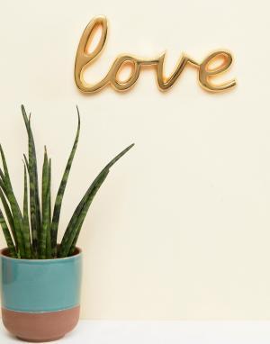 Bombay Duck Металлическое украшение в виде слова Love золотистого цвета Duc. Цвет: мульти