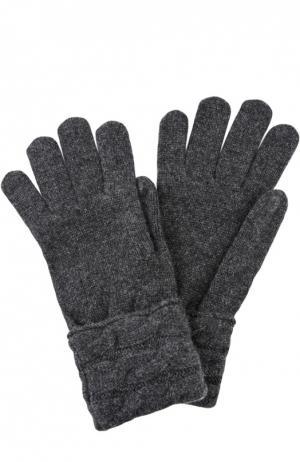 Вязаные перчатки из кашемира Kashja` Cashmere. Цвет: темно-серый
