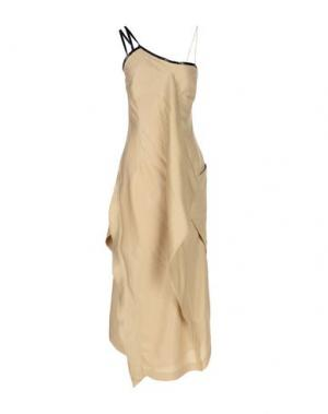 Длинное платье MALLONI. Цвет: бежевый