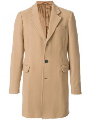 Однобортное пальто Dondup. Цвет: телесный